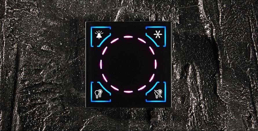 Dotykowy przycisk Kamereon z ikonami