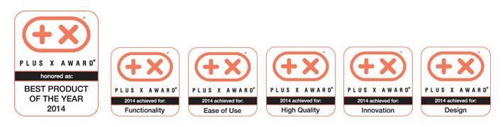 Plus X Award 2014 dla przycisku kamereon